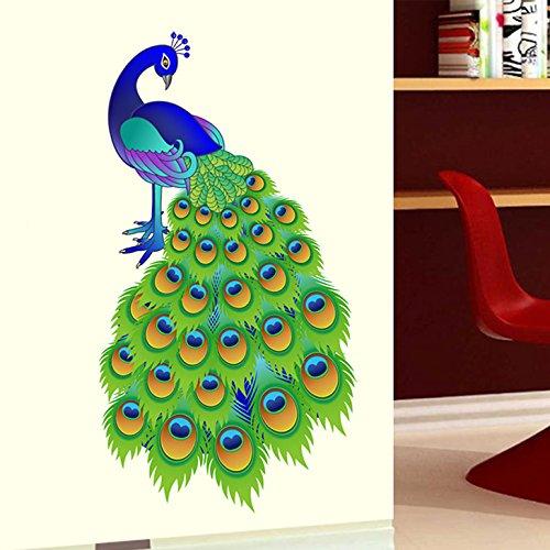 Decals Design 'Slender Peacock' Wall Sticker (PVC Vinyl, 60 cm x 90...