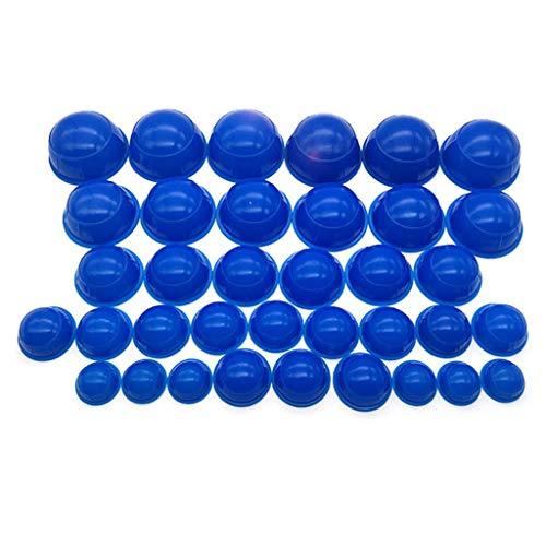Set Anti Cellulite Cup, Silikon Schröpfen Set Vakuummassage Kit Anti Cellulite Vakuumtherapie Cups Home Spa Gesundheitswesen (Color : Blue) ()
