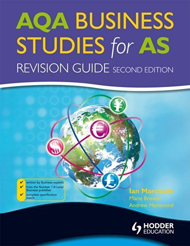 AQA Business Studies for AS: Revision Guide, 2nd Edition (Aqa As Level) by Ian Marcouse (2010-02-26)