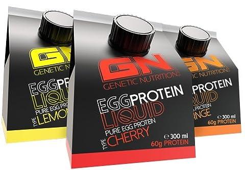 GN Laboratories EGG Protein Liquid Proteinquelle Eiweiß Leucin Laktosefrei (10x 300ml Orange) (Bewertung Wasser)