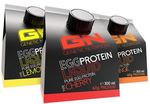 GN Laboratories EGG Protein Liquid Proteinquelle Eiweiß Leucin Laktosefrei (12x 300ml Cherry - Kirsche) (Vanille Protein Egg)