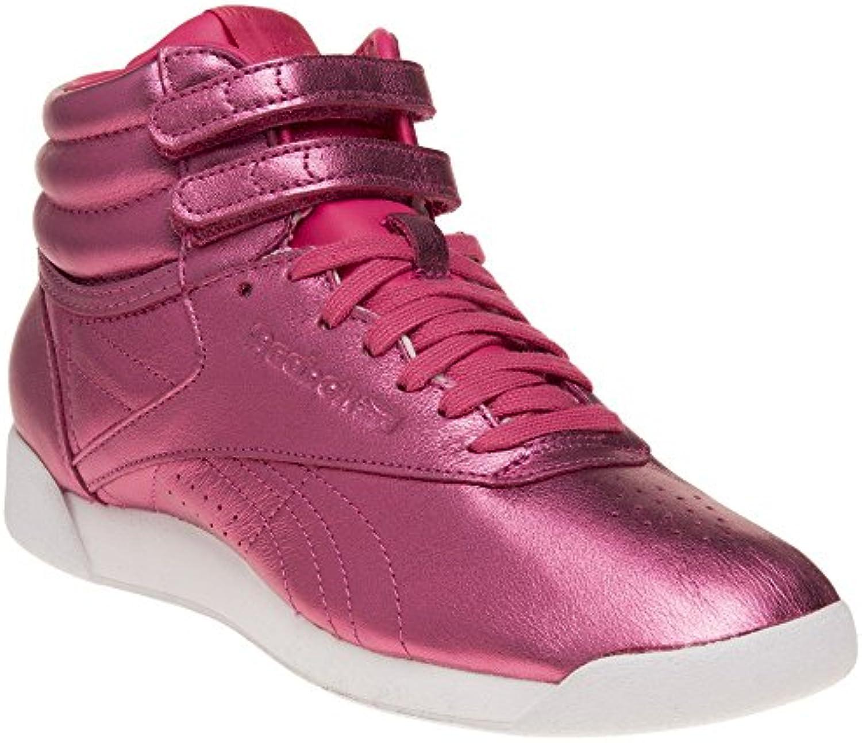 Reebok Freestyle Hi Metallic Mujer Zapatillas Rosa