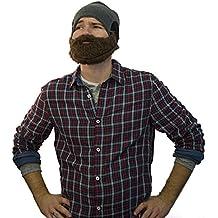 Gorro de barba divertido para hombres y mujeres – Gorro de esquí – Talla universal – Color: marrón