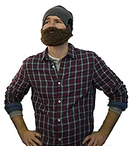 Lustige Bartmütze für Herren und Damen - Skimaske - Universalgröße - Farbe: Braun