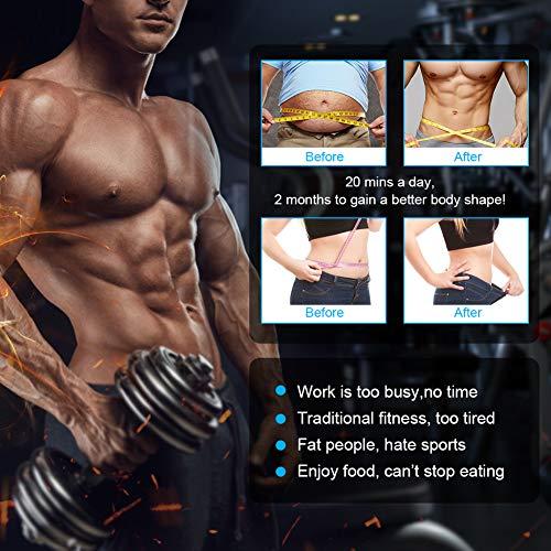 Elettrostimolatore Muscolare Professionale, Elettrostimolatore Per Addominali, EMS Stimolatore Muscolare, ANLAN ABS Stimulator, Addome/braccio/Gambe/Waist/Glutei Massaggi-attrezzi, Batteria installabile, Ultima versione (uomo/donna)