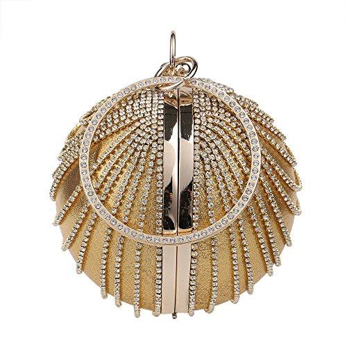 Borse Sera Il nuovo Wild palla rotonda Borsetta donna Borsa serale Gold