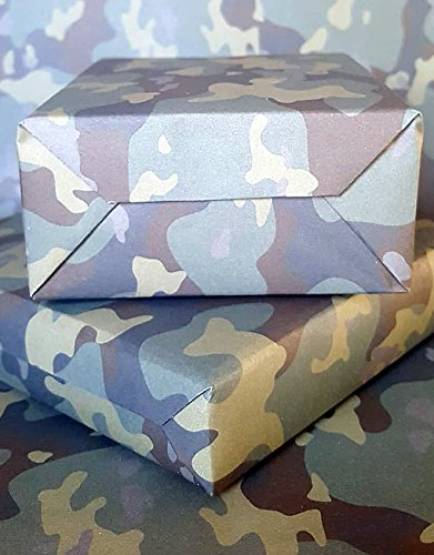 Jungen Camouflage Geschenkpapier von Molly Mae (WR22) (Blätter Mit Camper Auf Sie)