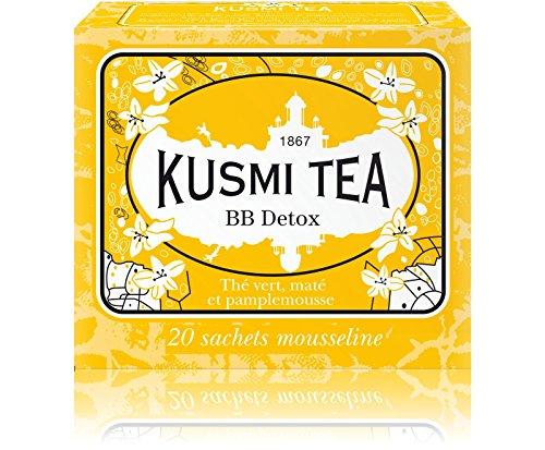Kusmi Tea - BB Detox wellness Blend - 20 tea bags box - Green tea and maté