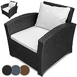 Einzelsessel aus Polyrattan | 2er Set | Farbwahl | Premium Lounge Sessel | Lounge Sofa | Gartenmöbel | Rattan Sessel | Balkonmöbel Farbe Schwarz