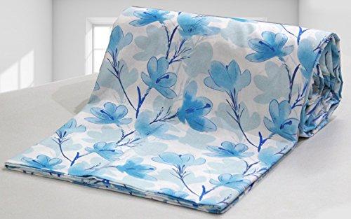 AURAVE Blue Flower Floral Pattern 1 Pc Cotton Duvet Cover/Quilt Cover/Blanket Cover...