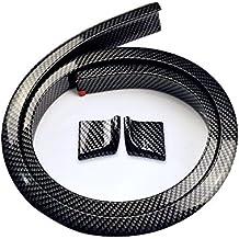 Automan 59 pulgadas Alerón trasero de fibra de carbono de labios faldón del parachoques de protección