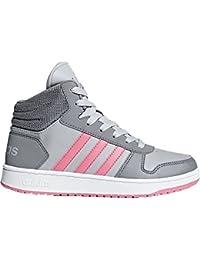Adidas - Hoops Mid K - CG5735 - Colore: Nero-Verde-Giallo - Taglia: 36.6