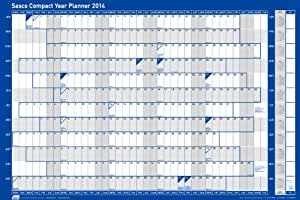 Sasco 2014 Compact Unmounted Year Planner (W610mm x H405mm)