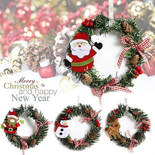 tmas Garland Weihnachtsschmuck Weihnachtsdekoration Wandbehang Schranktür und Fenster hängenden Dekoration (4 Teile/Satz (Vier Arten kombinieren)) ()