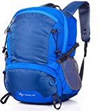 Men and women couples section 20-35L outdoor travel mountain climbing hit color backpack , blue