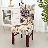 Spandex Stretch Chair Cover Flower Printing Rimovibile Anti-Dirty Chair Covers Plant Leaves Flower Pattern Coprisedili 015 One Size