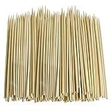Lote de 200pinchos de bambú COSMALL para barbacoa, brochetas, frutas, fuente de chocolate (palos de madera de 30cm)