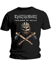 Iron Maiden T Shirt Book of Souls Axe Band Logo Oficial de los hombres nuevo