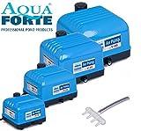Aquaforte Hi-Flow Luftpumpe 'V60', sehr leise und kräftig, 57 l/min (bei 1,2 m), 27x24x21 cm, blau