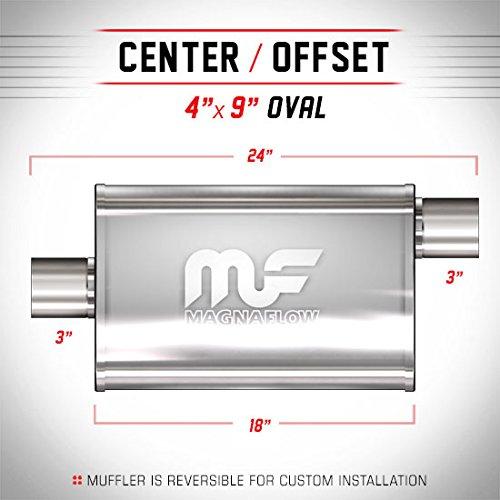 Magnaflow marmitta/Silenziatore ovale 3inch ingresso Offset