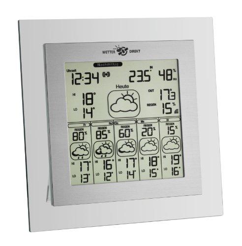 TFA Dostmann Tabla Max satellitengestützte Funk-Wetterstation, 35.5043, mit Wetterdirekt Technologie, Profi-Wetterprognose, mit Reisewetter