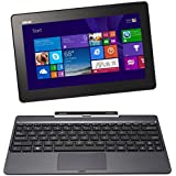 Asus T100TA-DK026H 25,60 cm (10,1 Zoll) Convertible Tablet-PC (Intel Atom Z3775, 1,4GHz, 2GB RAM, 64GB eMMC + 500GB HDD, Intel HD, Win 8, Touchscreen) grau
