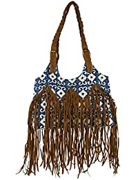 Madelyn Maddy Women's Handbag (Brown And Blue)