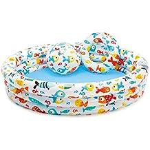 Intex - Piscina, flotador y pelota 51 cm - 132x28 cm & 204 l/agua - 59469NP