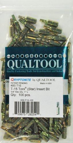 qualtool qryptonite k60-t15-100Gr. 15Star Einsatz-Bit, 100Stück -