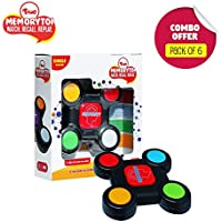 Toiing Memorytoi Return Gift Combo - Pack of 6 Electronic Memory Games, Great Travel Toy for Kids