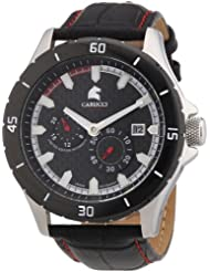 Carucci Watches Herren-Armbanduhr XL Analog Automatik Leder CA2187RD