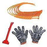 Unbekannt Per Anti-Rutsch Schneeketten Set mit Handschuhen Nylon-Notfall-Anti-Rutsch-Kette-Auto-Riemen-Riemen für Schnee Road -10pcs