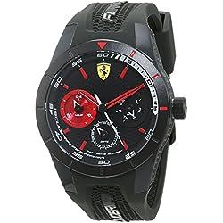 Reloj Scuderia Ferrari para Hombre 0830439, Negro (Negro/Rojo)