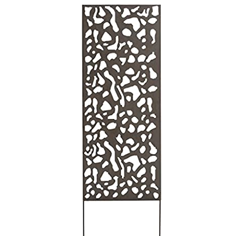Nortene 2012058 0.6 x 1.5 m Metal Panel with Leaf Motif - Brown