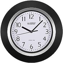 La Crosse Technology 404-1225 Analog Round Clock, 10-Inch, Black Frame by La Crosse Technology
