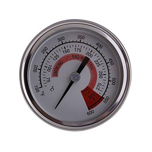 lookthenbuy 300Grad rund Grill Thermometer Temperatur Messgerät