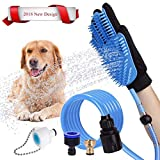 [Upgrade Version TRUE touch] Pet Grooming Glove - Five Finger Comb Glove Pet Massage Mitt - Efficient Pet Hair Remover Mitt - Enhanced Five Finger Design - Perfect for Shedding, Bathing, Grooming, De-Shedding Horses/Dogs/Cats/Livestock/Small Pets - Your Pet Will Love It