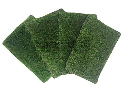 kit di quattro campioni di prato sintetico da 30 x 20 cm con spessore 20-30-40-50 mm (kit campione)