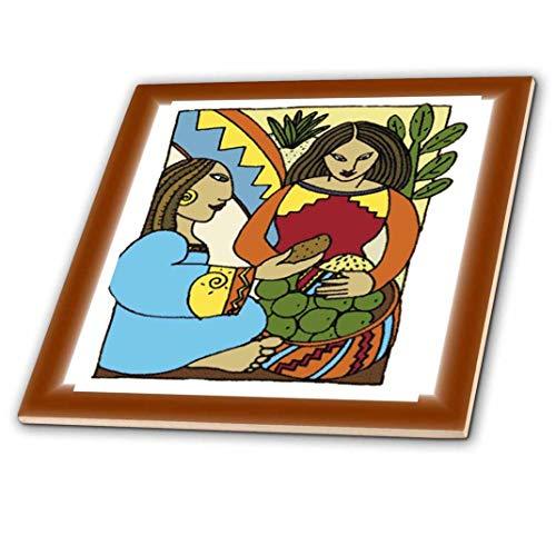 3dRose Malerei von mexikanischen Frauen Kubismus style-ceramic Tile Zoll (CT 62445_ 4), 30,5cm