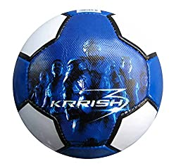 Simba Flying Krish Blue Soccer Ball Size 5, Blue