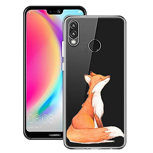 AIsoar ersatz für Huawei P20 Lite Hülle,Huawei P20 Lite Handyhülle Ultra Dünn Crystal Kleiner Prinz Clear TPU Silikon Anti-Fingerabdruck Kratzfest Schutzhülle für Huawei P20 Lite (Gelber Fuchs)