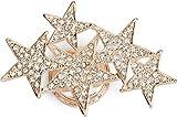 styleBREAKER spilla magnetica a stella con strass e ananas per sciarpe, foulard o poncho, da donna 05050061, colore:Rosa Oro