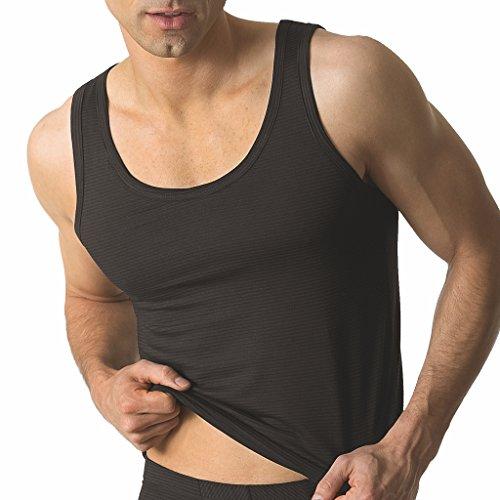 rhemd/Sport-Jacke - Cotton & More - Modal-Baumwoll-Elastan Mischung - Schwarz Dunkel-Blau Weiß - Größe 5 bis 8 (6, Schwarz) ()