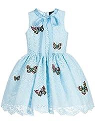 ZAMME Pastel de boda bordado de mariposa