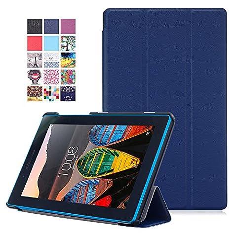 Lenovo Tab3 7 Essential Etui - Étui Housse Ultra Mince et Léger à Rabat avec Support pour Lenovo Tab3 7 Essential Tablette Tactile 7