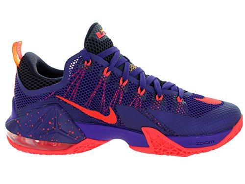 Lebron XII Low-Basketball-Schuh Crt Prpl/Brght Crmsn/Cv Prpl/L