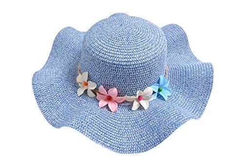 kanggest Cappello di paglia della Ghirlanda del bambino cappello di paglia  ancho-brimmed del verano 96275305b6ad