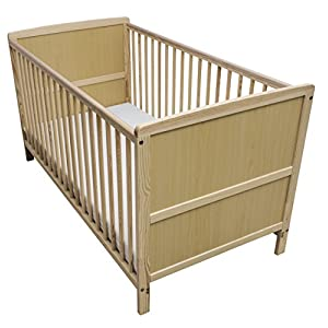 Kinder Valley Solid Pine Wood 2-in-1 Junior Cot Bed, Natural, 144 x 76 x 80 cm Kidsaw Comfortable height to change 2 storage compartments for changing utensils Suitable for all current changing mattresses (70x50cm) 6
