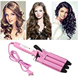 Three Barrel Triple Barrel Ceramic Hair Curling Iron Deep Waver Curler Tool