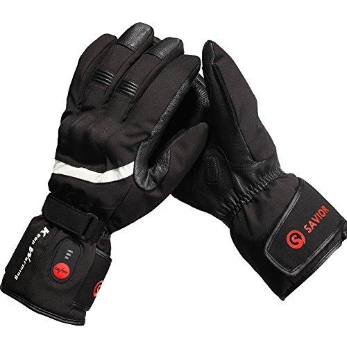 retter Beheizte Handschuhe mit Wiederaufladbare Li-Ion Akku Erhitzt für Männer und Frauen, Touchscreen Wasserdichte Warme Handschuhe für Radfahren Motorrad Wandern Skifahren Bergsteigen, arbeitet bis zu 2,5-6 stunden (XL)